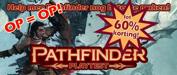 Pathfinder 2.0 Playtest boeken opruiming tot 60% korting!